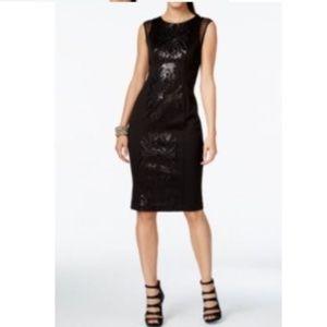 [Alfani Black Sequin Cocktail Dress Sz 10-B0